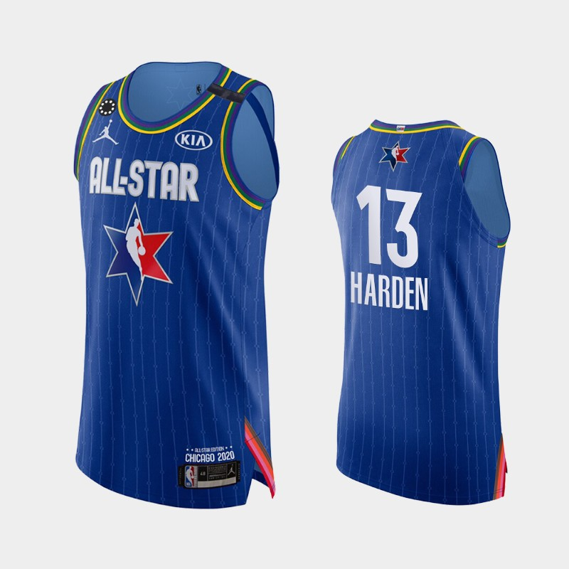 Men's Houston Rockets 2020 NBA All-Star Game James Harden Honor Kobe Bryant Authentic Jersey - Blue