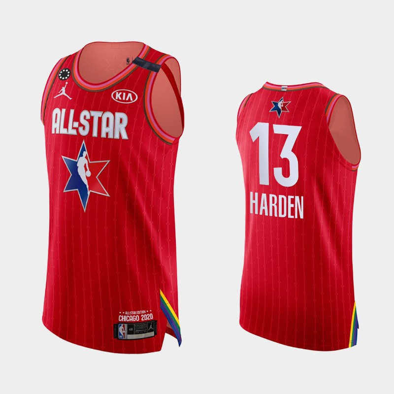Men's Houston Rockets 2020 NBA All-Star Game James Harden Honor Kobe Bryant Authentic Jersey - Red