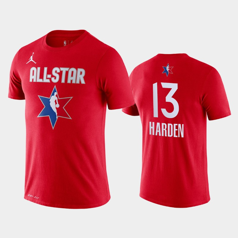 Men's Houston Rockets 2020 NBA All-Star Game James Harden Name & Number T-Shirt - Red