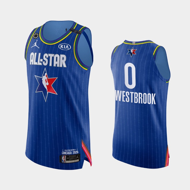 Men's Houston Rockets 2020 NBA All-Star Game Russell Westbrook Honor Kobe Bryant Authentic Jersey - Blue