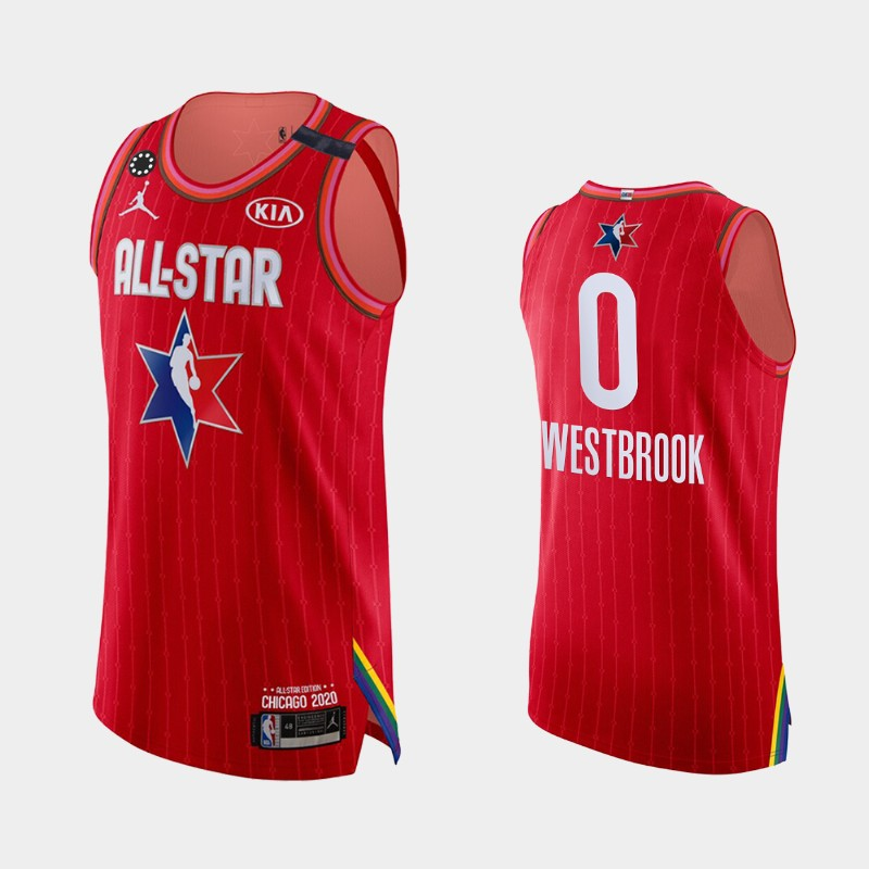 Men's Houston Rockets 2020 NBA All-Star Game Russell Westbrook Honor Kobe Bryant Authentic Jersey - Red