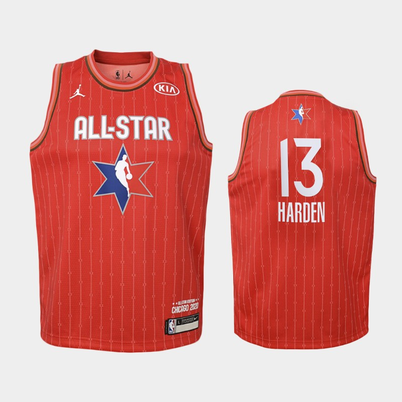 Youth Houston Rockets 2020 NBA All-Star Game James Harden Western Conference Jersey - Red