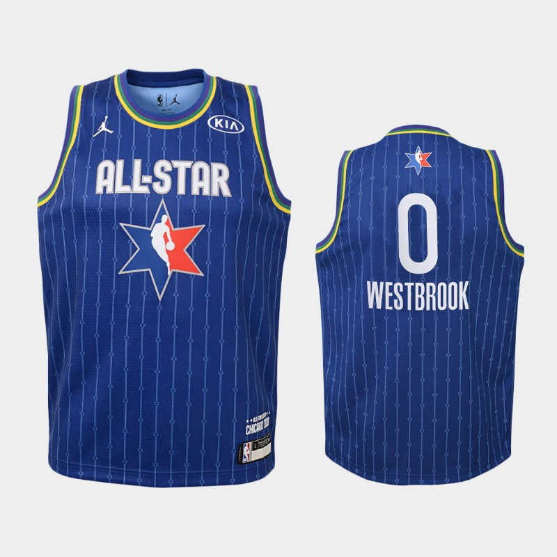 Youth Houston Rockets 2020 NBA All-Star Game Russell Westbrook Western Conference Jersey - Blue