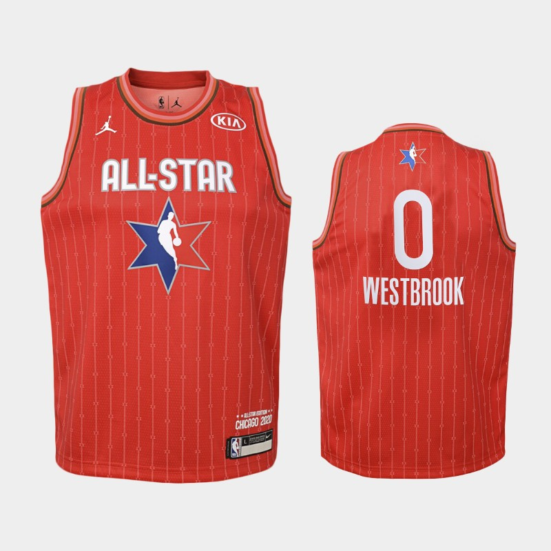 Youth Houston Rockets 2020 NBA All-Star Game Russell Westbrook Western Conference Jersey - Red