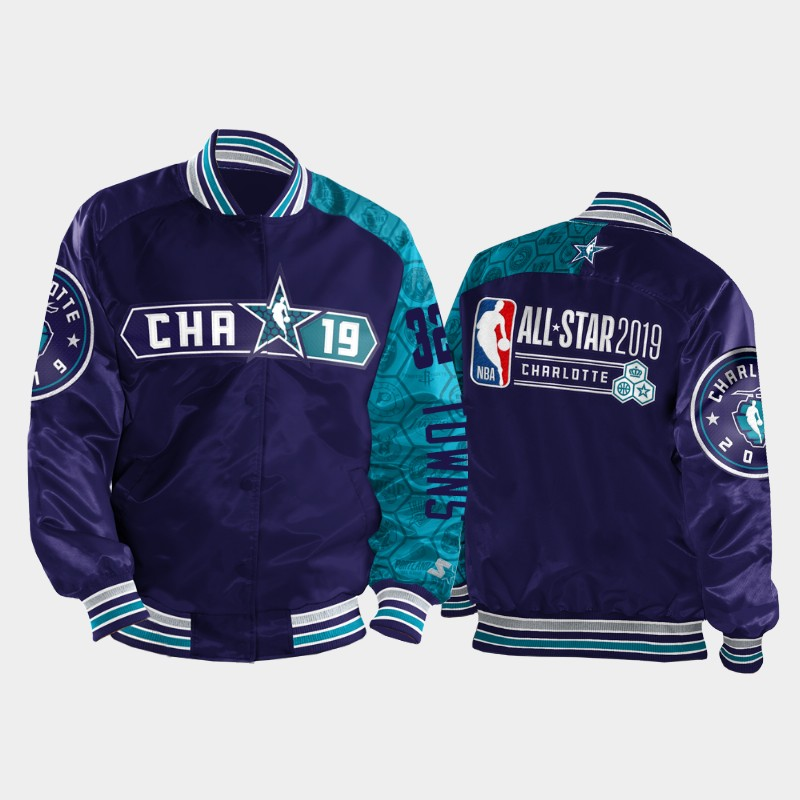 Karl-Anthony Towns 2019 All-Star Game Varsity Satin Full-Zip Jacket - Purple