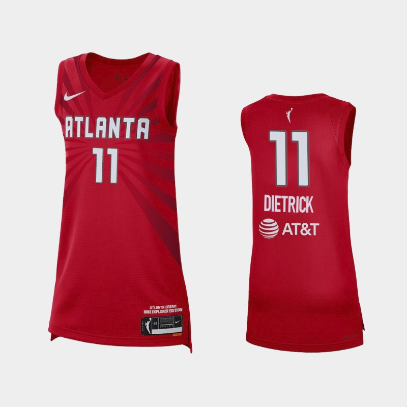 Atlanta Dream Blake Dietrick 2021 Explorer Edition Jersey - Red