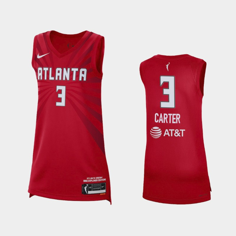 Atlanta Dream Chennedy Carter 2021 Explorer Edition Jersey - Red