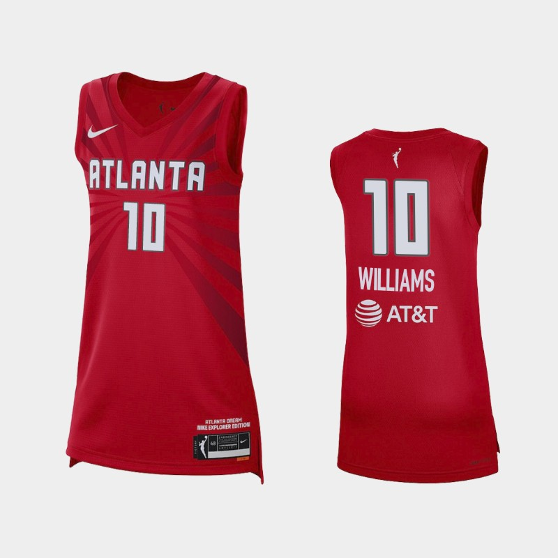 Atlanta Dream Courtney Williams 2021 Explorer Edition Jersey - Red