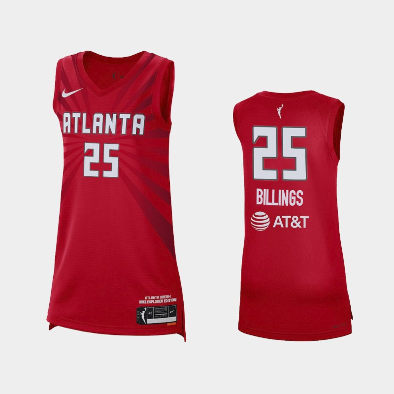 Atlanta Dream Monique Billings 2021 Explorer Edition Jersey - Red