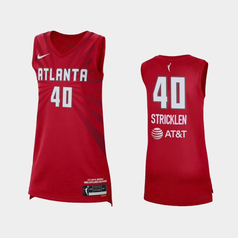 Atlanta Dream Shekinna Stricklen 2021 Explorer Edition Jersey - Red
