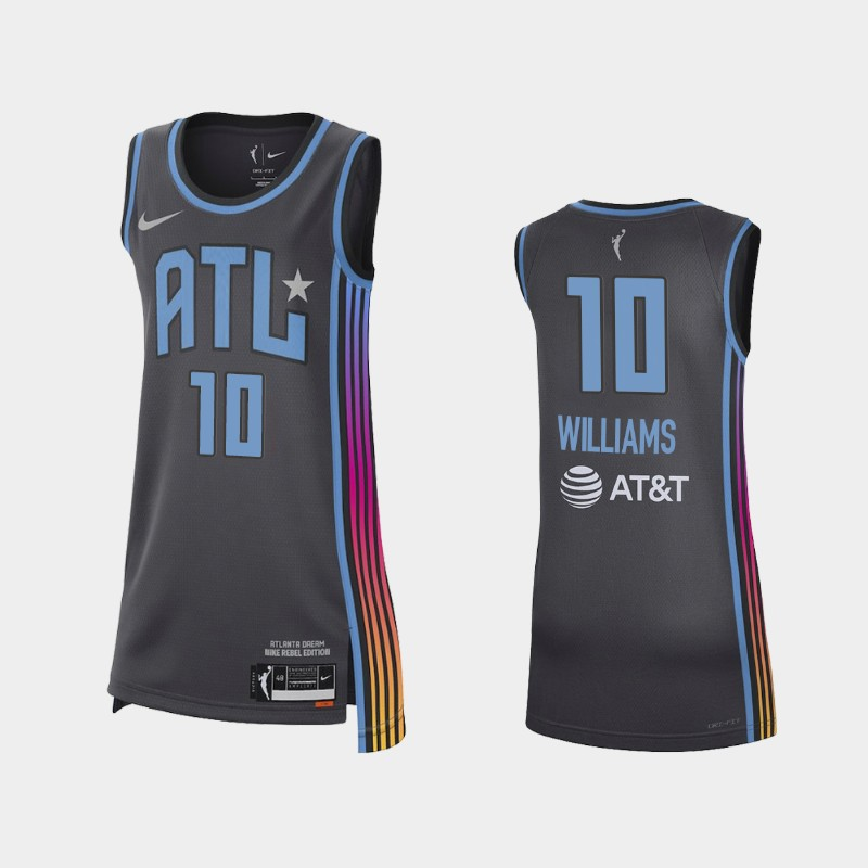 Atlanta Dream Courtney Williams 2021 Rebel Edition Jersey - Black