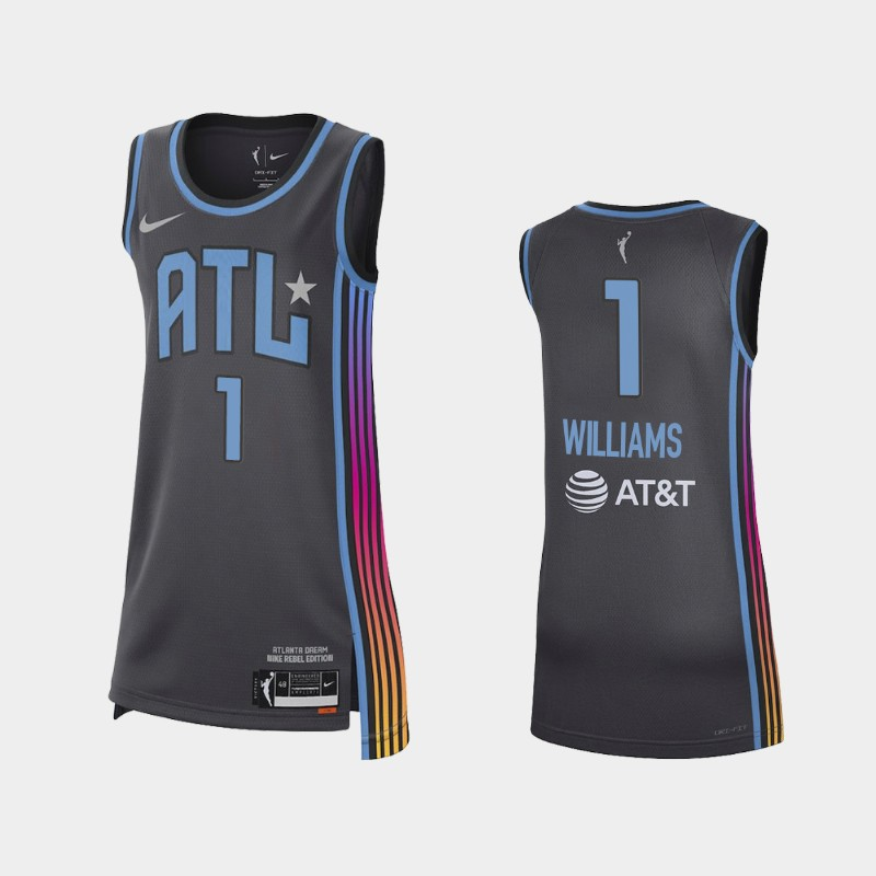 Atlanta Dream Elizabeth Williams 2021 Rebel Edition Jersey - Black