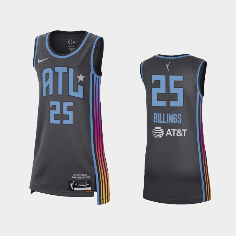 Atlanta Dream Monique Billings 2021 Rebel Edition Jersey - Black
