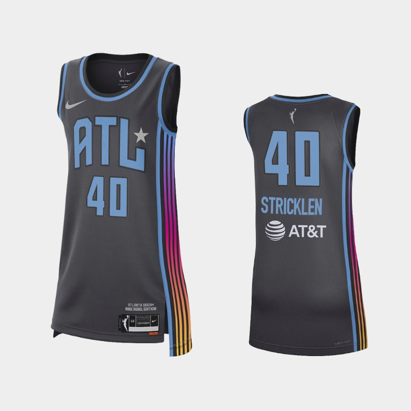Atlanta Dream Shekinna Stricklen 2021 Rebel Edition Jersey - Black