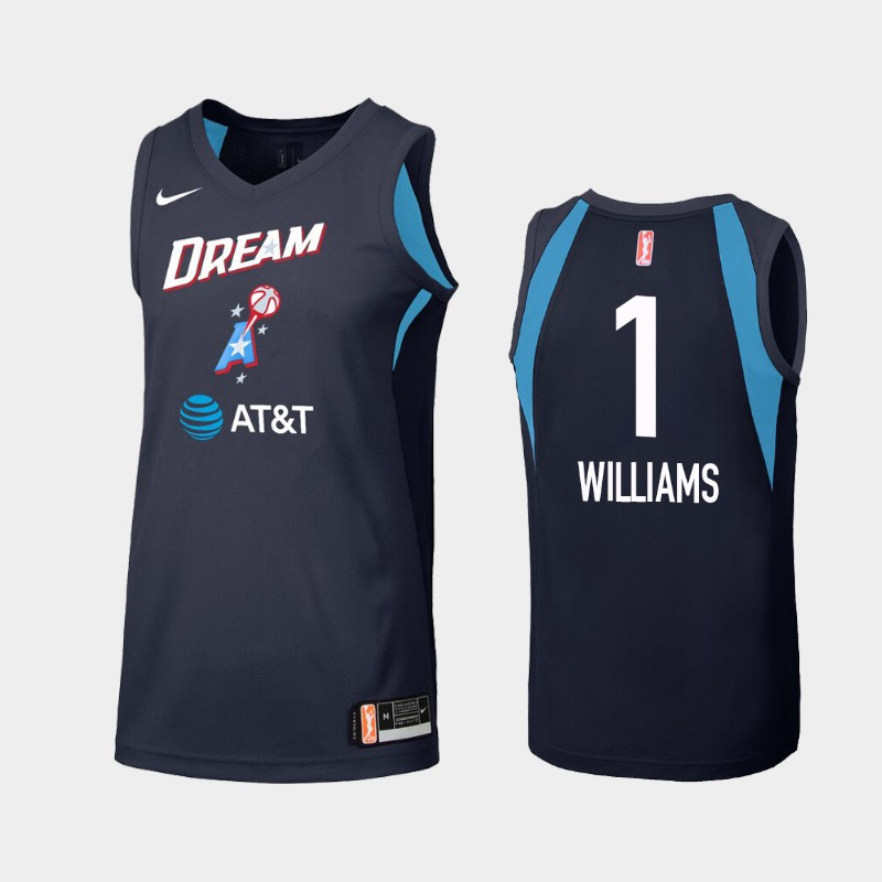 WNBA Atlanta Dream Elizabeth Williams Navy Secondary Statement Jersey