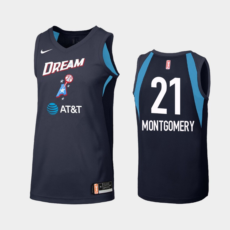 WNBA Atlanta Dream Renee Montgomery Navy Secondary Statement Jersey
