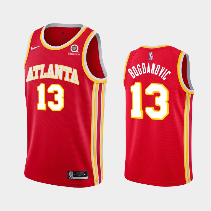 Atlanta Hawks Bogdan Bogdanovic 2020-21 Icon Jersey - Red