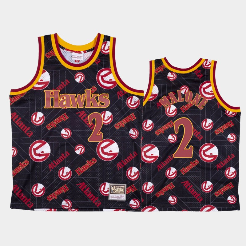 Moses Malone Atlanta Hawks Tear Up Pack Red Hardwood Classics Jersey