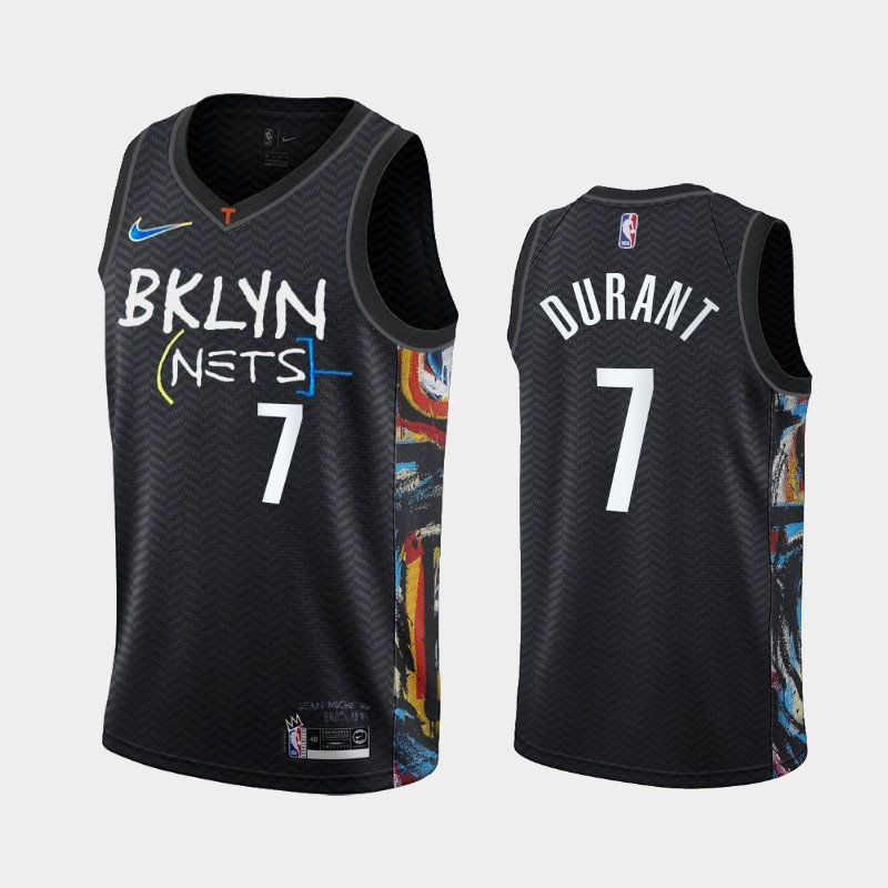 Brooklyn Nets Kevin Durant 2020-21 City Edition Honor Basquiat Jersey - Black