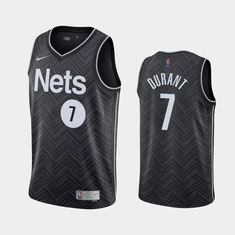 Brooklyn Nets Kevin Durant 2021 Earned Jersey - Black