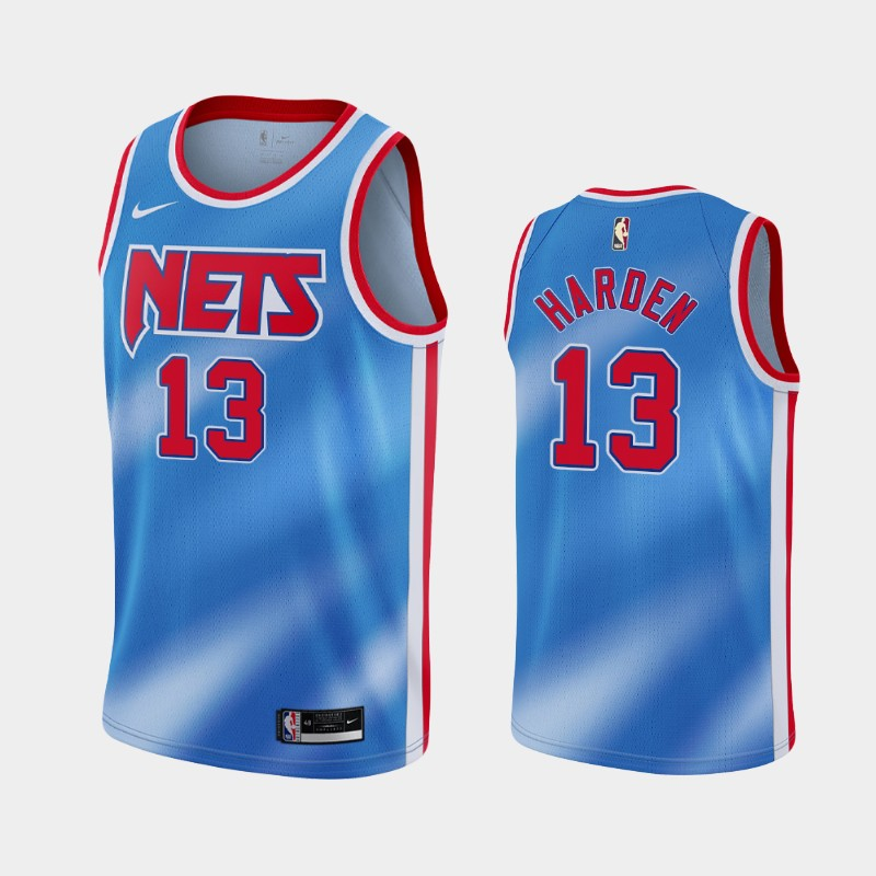 Brooklyn Nets James Harden 2020-21 Hardwood Classics Jersey - Blue
