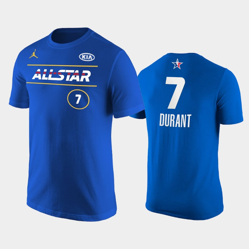 Kevin Durant Brooklyn Nets Blue 2021 NBA All-Star Eastern T-Shirt