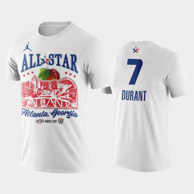 Kevin Durant Brooklyn Nets White 2021 All-Star Game Support Black Colleges T-Shirt