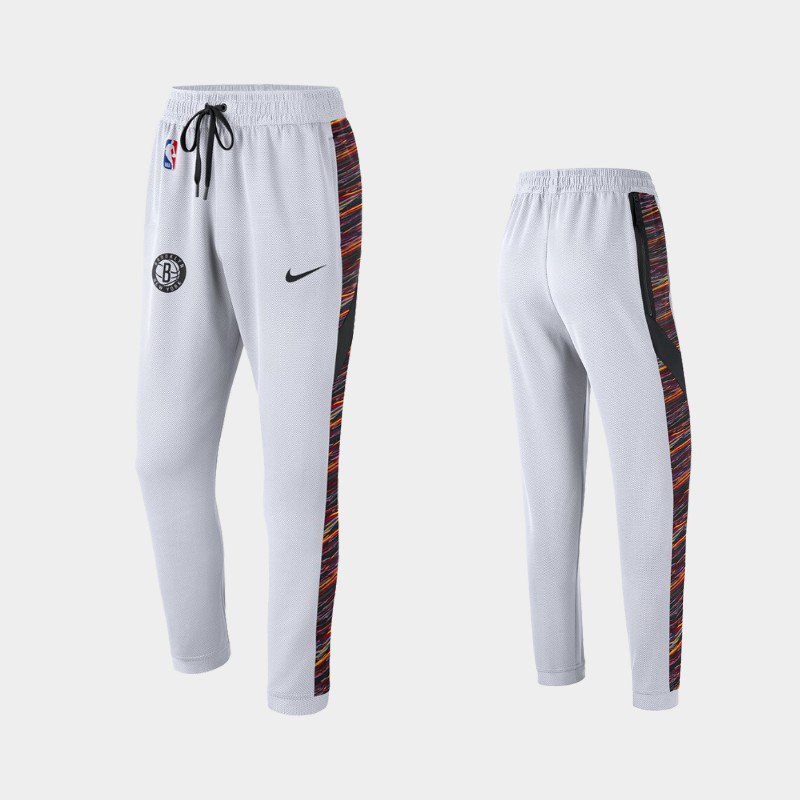 Brooklyn Nets 2019-20 Earned Edition Showtime Performance Pants - White