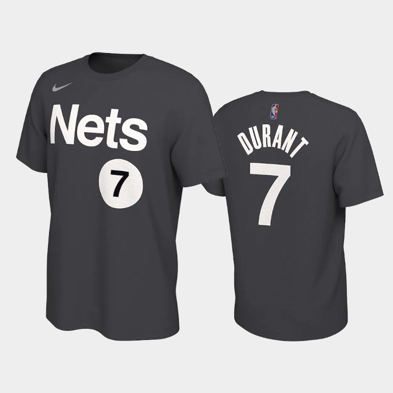 Kevin Durant Brooklyn Nets Black 2021 Earned Edition T-Shirt