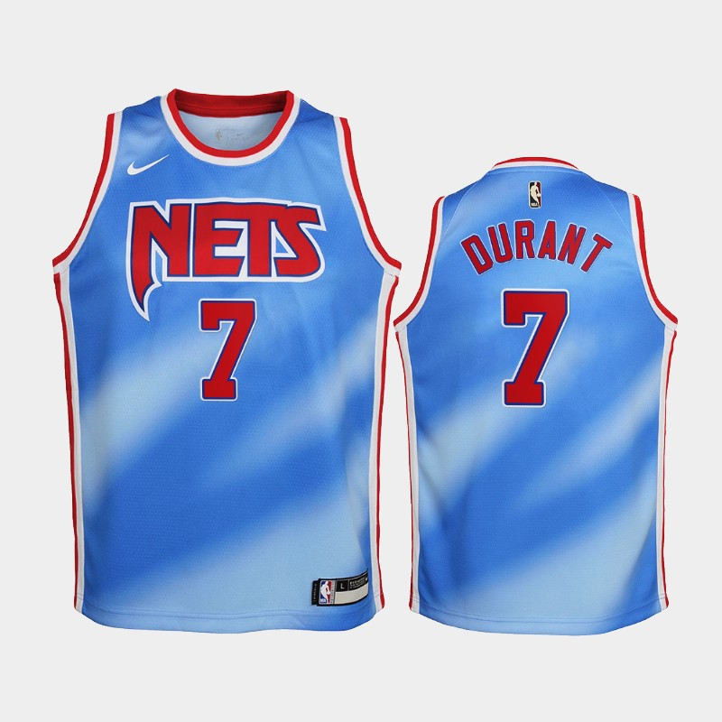 Youth 2020-21 Nets Kevin Durant Hardwood Classics Blue Jersey