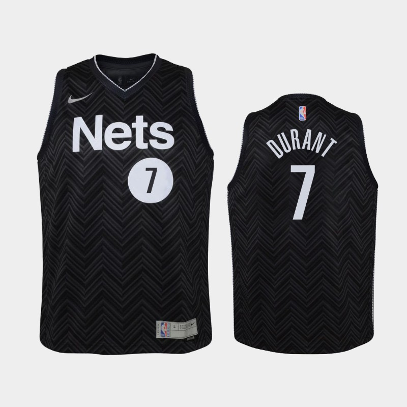 Youth 2021 Nets Kevin Durant Earned Black Jersey