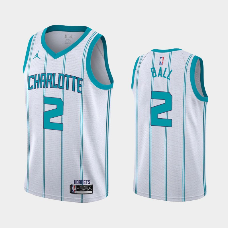 Charlotte Hornets LaMelo Ball Association 2020 NBA Draft First Round Pick Jersey - White