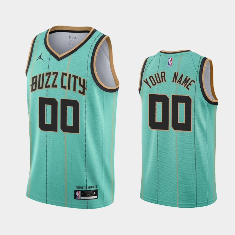Charlotte Hornets Custom 2020-21 Buzz City Jersey - Teal