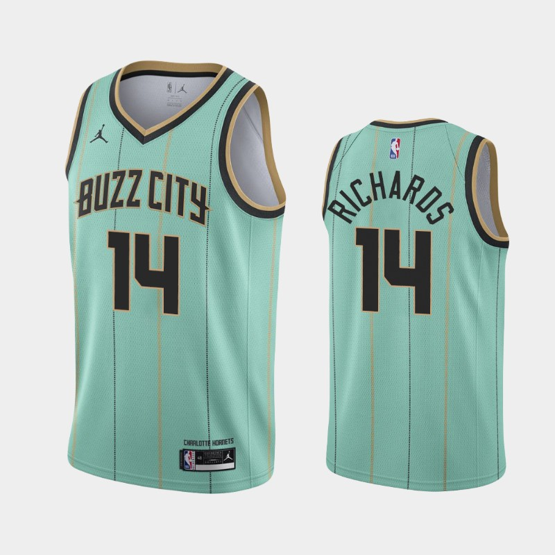 Charlotte Hornets Nick Richards Buzz City 2020 NBA Draft Jersey - Mint Green