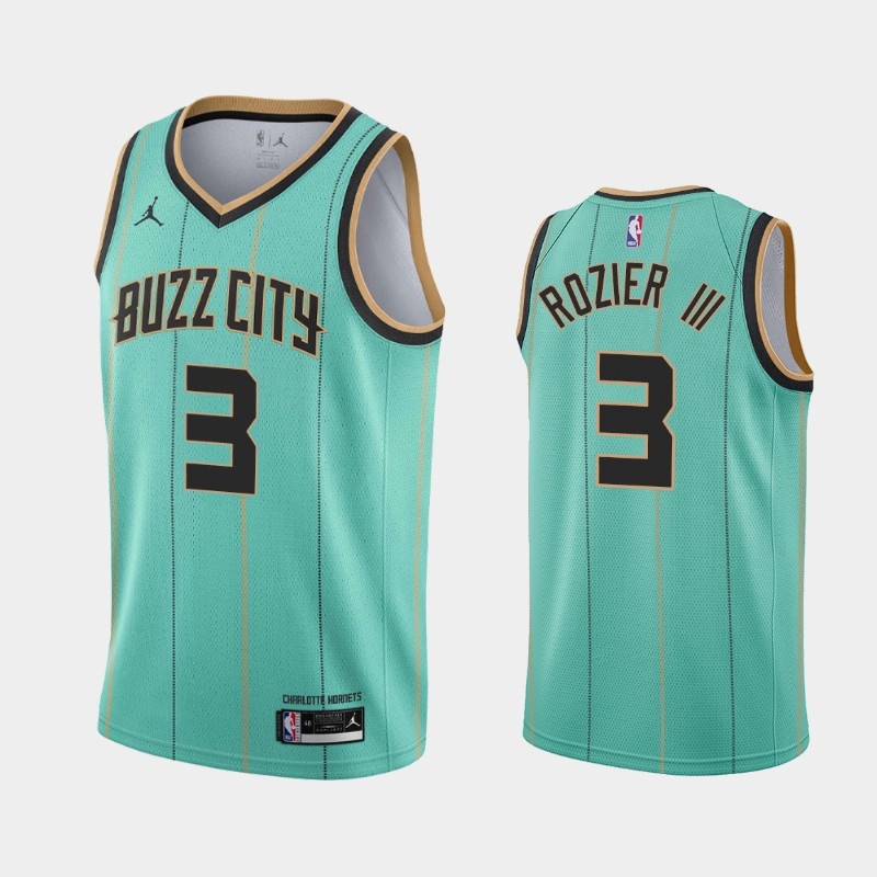 Charlotte Hornets Terry Rozier III 2020-21 Buzz City Jersey - Teal