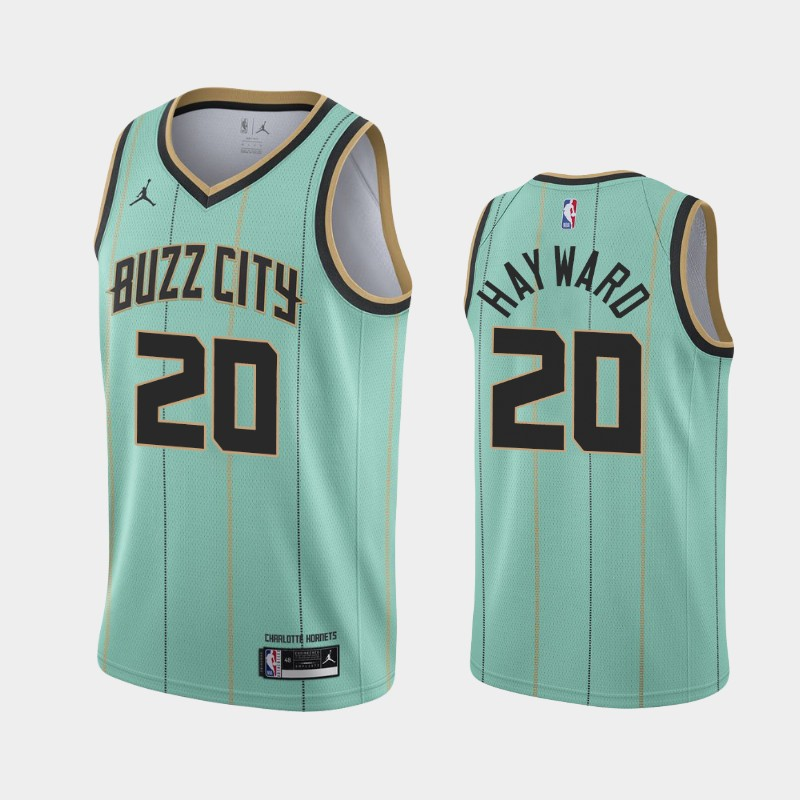 Charlotte Hornets Gordon Hayward 2020-21 City Jersey - Mint Green