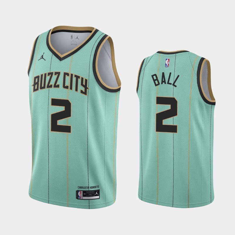 Charlotte Hornets LaMelo Ball City 2020 NBA Draft First Round Pick Jersey - Mint Green