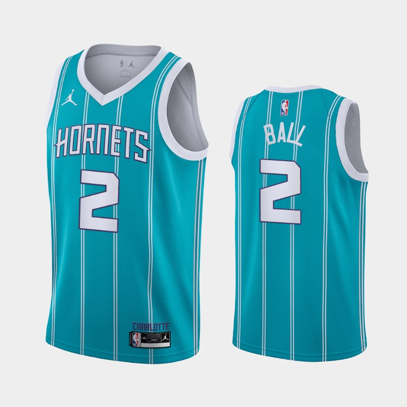 Charlotte Hornets LaMelo Ball Icon 2020 NBA Draft First Round Pick Jersey - Teal