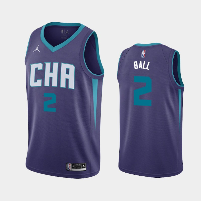 Charlotte Hornets LaMelo Ball Statement 2020 NBA Draft First Round Pick Jersey - Purple