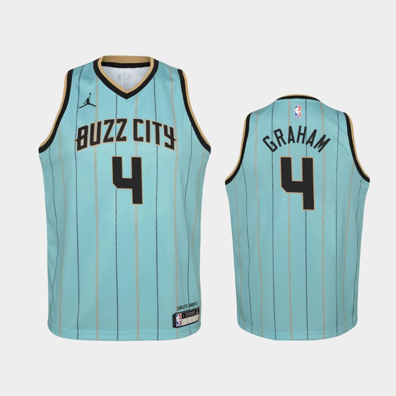 Youth 2020-21 Hornets Devonte' Graham Buzz City Teal Jersey