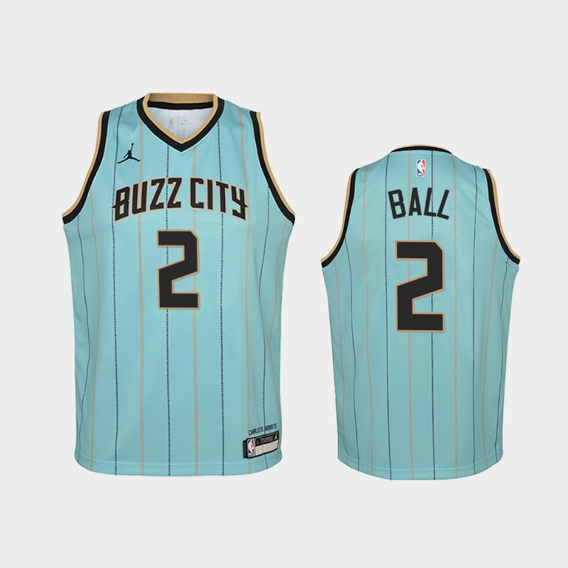 youth 2020-21 Hornets LaMelo Ball City Mint Green 2020 NBA Draft Jersey