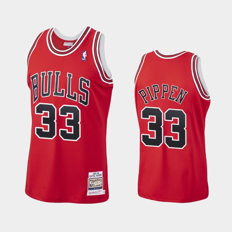 Bulls Scottie Pippen 1997-98 Hardwood Classics Jersey Authentic Red
