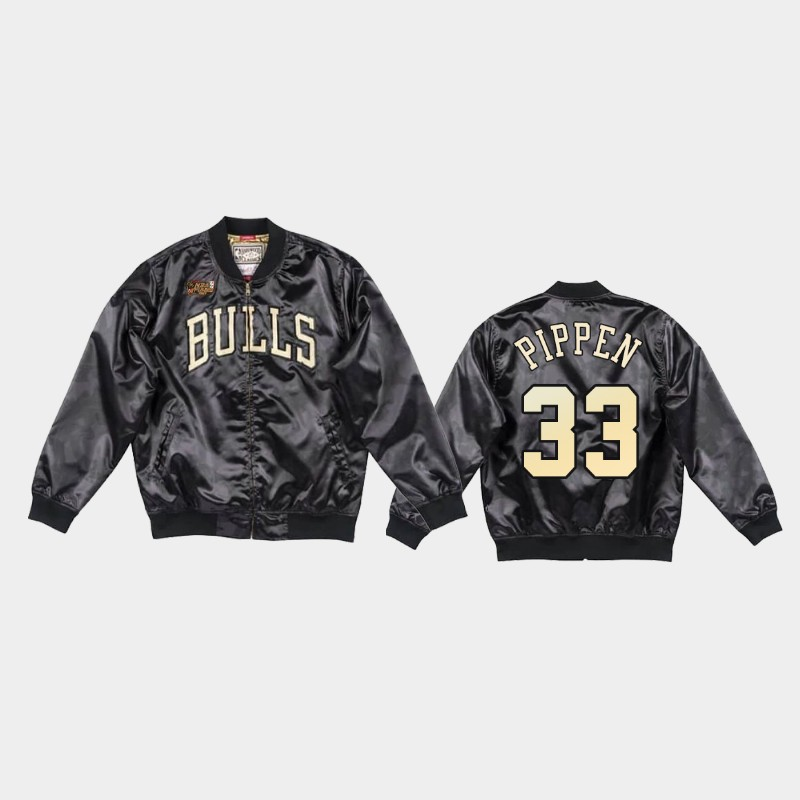 Chicago Bulls Scottie Pippen Black Toile Jacket - Black