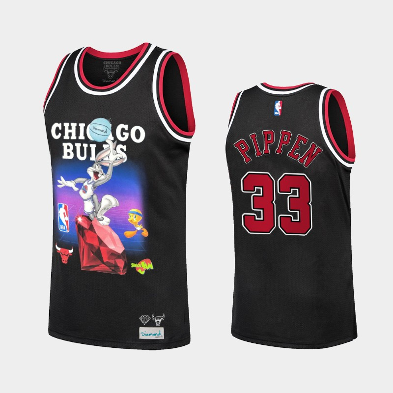 Bulls Scottie Pippen Diamond Supply Co. x Space Jam x NBA Limited Jersey Black
