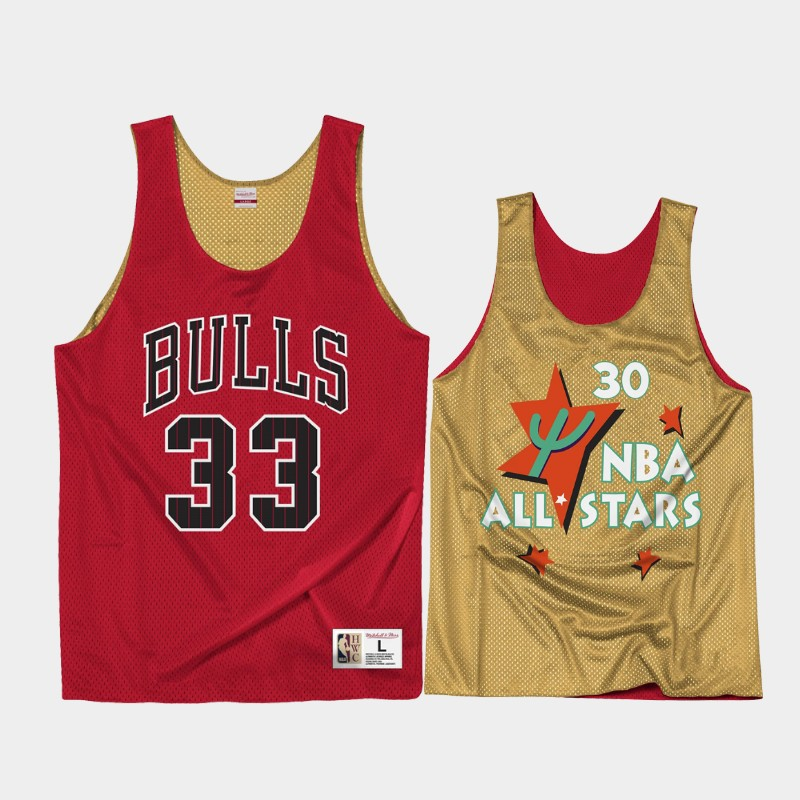 Chicago Bulls Scottie Pippen All-Star Red Reversible Mesh Tank Top