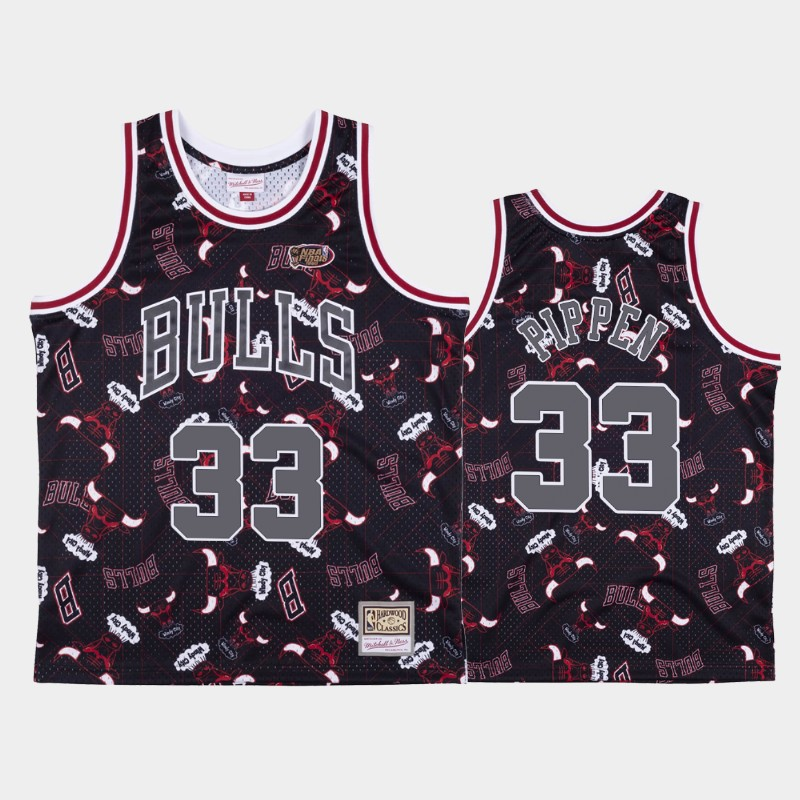 Scottie Pippen Chicago Bulls Tear Up Pack Red Hardwood Classics Jersey