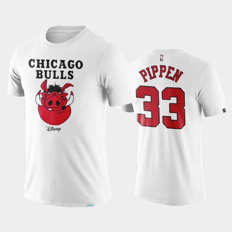 Chicago Bulls Scottie Pippen Disney X NBA Logo T-Shirt White
