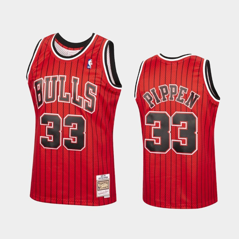 Chicago Bulls Scottie Pippen 1995-96 Reload Red Hardwood Classics Jersey