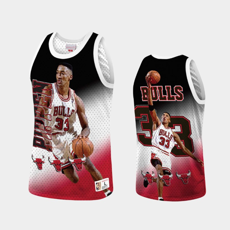 Chicago Bulls Scottie Pippen Behind the Back Red Throwback Tank Top