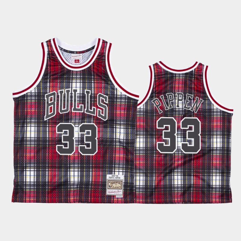 Chicago Bulls Scottie Pippen Private School Red Hardwood Classics Jersey